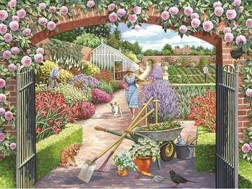 A garden picture. - Landscape. A garden picture.