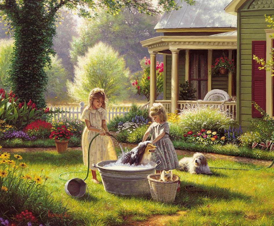 Στον κήπο πίσω αυλή.