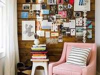 Розово фотьойл в стаята - Фотьойл в прахово розово.