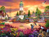 Fishing town. - Landscape. Fishing town.