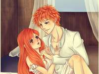 Anime Bleach - Orihime e Ichigo são o casal perfeito