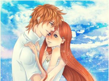 Anime Bleach - Orihime i Ichigo idealna para love