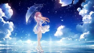 Anime Girl - Paradise Anime Girl Wallpaper