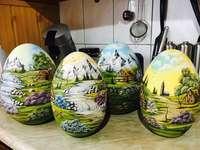 Easter eggs. - Easter ceramic eggs.