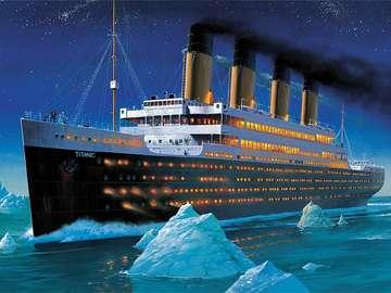 Na oceanie Titanic. - Trudne puzzle. Titanic.