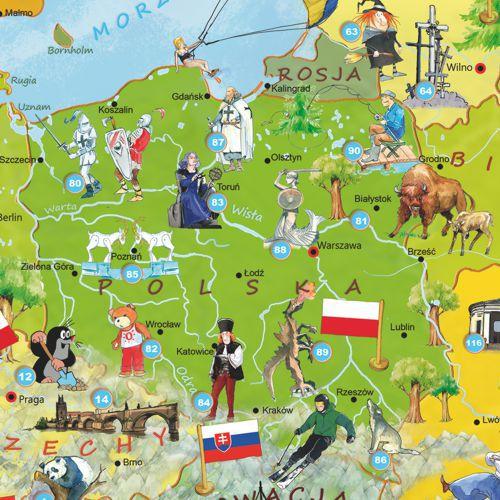 Mapa Polski - Dla dzieci. Mapa Polski (6×6)