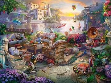 Mish mash. - Landscape. Difficult puzzle.
