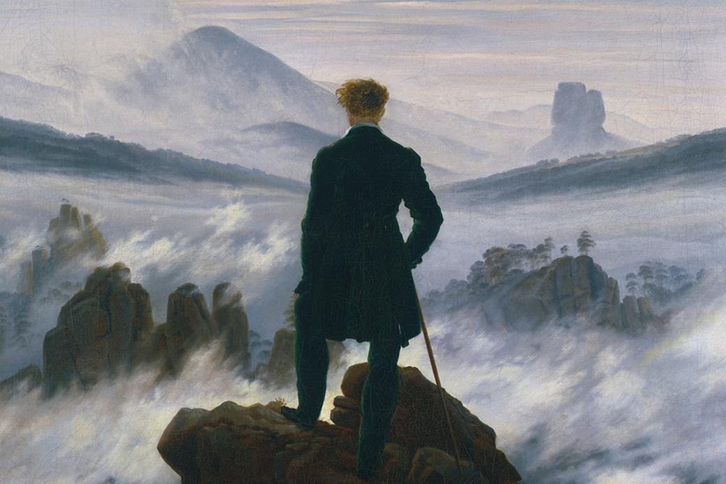 The wanderer over the sea of fog puzzle