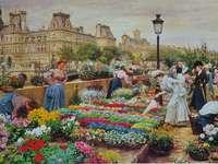 På blommamarknaden