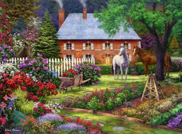 A colorful picture. - A colorful picture with ponies.