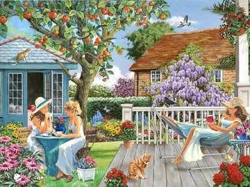 Relaks w ogrodzie - Relaks w ogrodzie w letni dzień