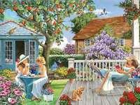 Χαλαρώστε στον κήπο - Χαλαρώστε στον κήπο μια καλοκαιρινή μέρα