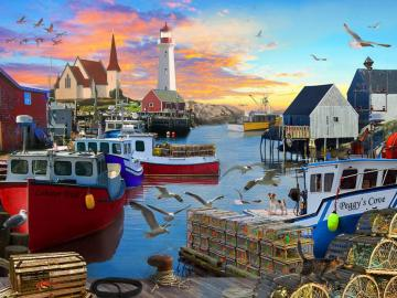 In the fishing port. - Cutters in the fishing port.
