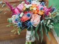 Ein bunter Hochzeitsstrauß