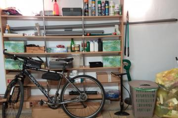 bicycle in the garage - new bicycle in the garage