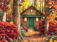 Podzimní obrázek, podzimní listí