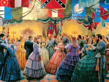 During the Civil War. - At a ball at the Confederates during the Civil War.
