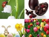 czekoladowy wiosenny kolaż