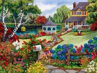 σπίτι με κήπο