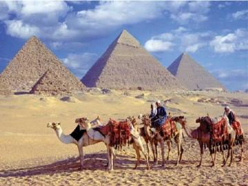 Pyramides. - Paysage égyptien. Pyramides.