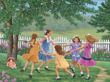 Children's play. - Landscape. Children's fun.