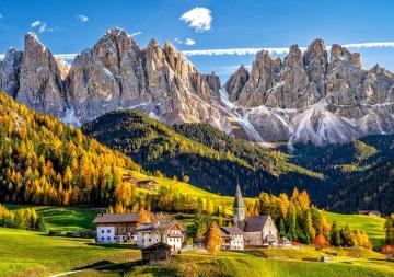 alpine landscape - Alpine landscape, Valley of Val di Funes