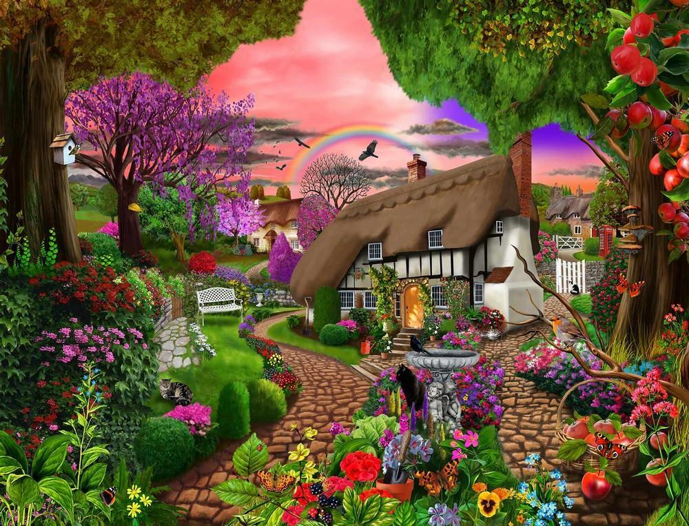 Huisje in een prachtige tuin (10×10)