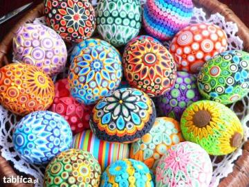 Kolorowe jajeczka - Wesołe kolorowe jajeczka