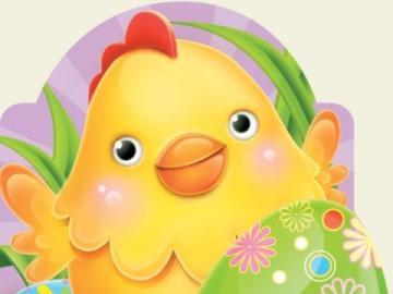 Wesoły wielkanocny kurczaczek - Wielkanocny wesoły korczaczek