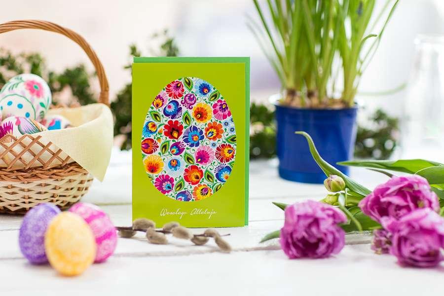 Wielkanocna kartka - Wielkanocna kolorowa kartka (10×8)