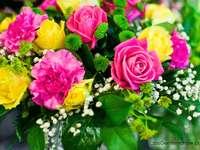 Kleurrijk boeket - Kleurrijk bloemboeket