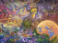 Titania. Josephine Wall. - Painting by Josephine Wall.