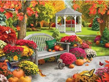 Kolorowa jesień. - Kolorowa jesień w parku. Piękne liście jesienne. Kolorowe drzewa, kolorowe jesienne liście.