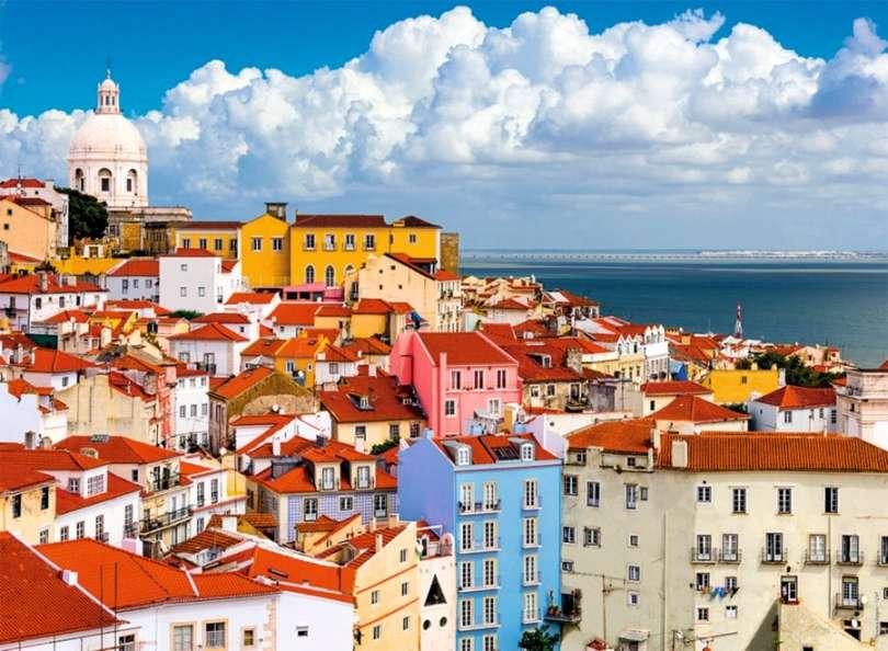 Πανόραμα της Λισαβόνας - Πανόραμα της Λισαβόνας, σπίτια, ακτή (11×9)