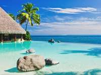 Malediwy. - Piękny krajobraz Malediwów.
