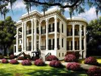Rezidencia az Egyesült Államok déli részén. - Kúria az USA déli részén.