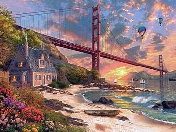 Golden Gate Bridge - Golden Gate Bridge à San Francisco.