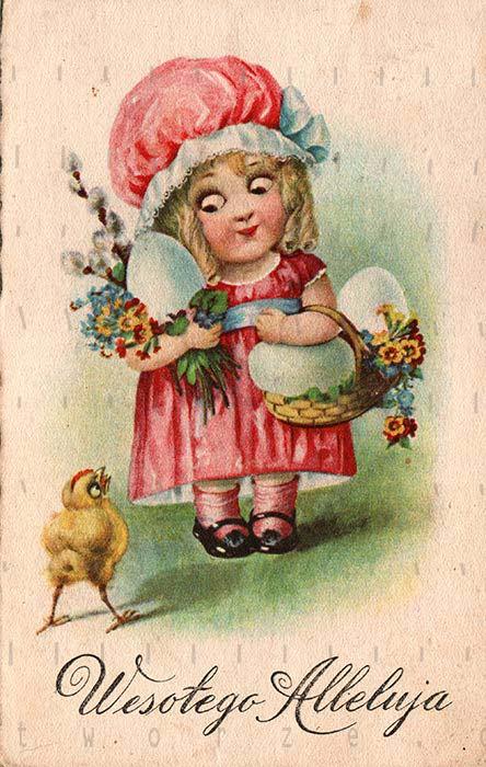 Cartão postal de Páscoa. quebra-cabeça