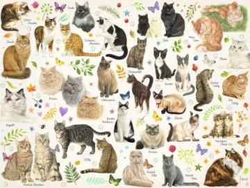Famille de chat - Animaux. Famille de chat.