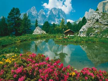 Mountain landscape. - A beautiful mountain landscape.