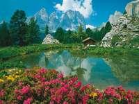 Berglandschap. - Een prachtig berglandschap.
