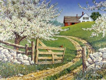 Spring in the countryside. - Landscape. Spring in the countryside.