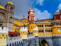 Palacio de pena - Palacio de Pena, Sintra, torrecillas coloridas.