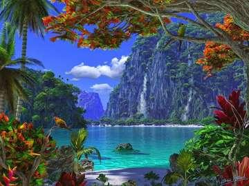 Un paisaje paradisíaco. - Hermoso paisaje paradisíaco.