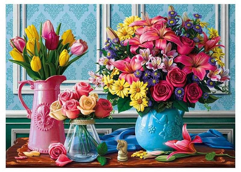 Csokrok - Gyönyörű csokrok vázában (10×9)