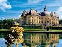 Vaux le Vicomte. - Franciaországban. Palota komplexum.