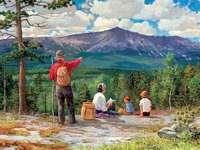 túra - kirándulás, családi piknik, hegyek