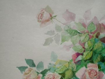 pinks in watercolors, flower puzzles - watercolor bouquet of roses, floral puzzle, white roses