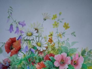 watercolor field flowers - watercolor field flowers