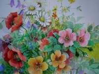aquarel wilde bloemen